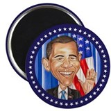 "Cute Obama caricature 2.25"" Magnet (10 pack)"