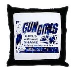 Gun Girls Throw Pillow