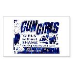 Gun Girls Rectangle Sticker