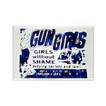 Gun Girls Rectangle Magnet