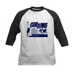 Gun Girls Kids Baseball Jersey