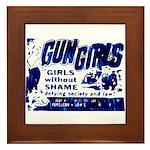 Gun Girls Framed Tile