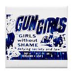 Gun Girls Tile Coaster