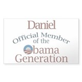 Daniel - Obama Generation Rectangle Decal