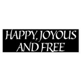 Happy Joyous & Free Bumper Car Sticker