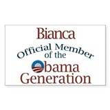 Bianca - Obama Generation Rectangle Decal
