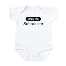 Obey the Schnauzer Infant Bodysuit