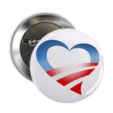 "Obama Heart Logo 2.25"" Button (10 pack)"