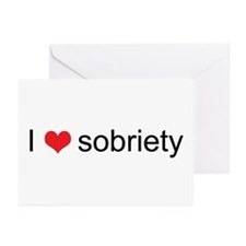 I Love Sobriety! Greeting Cards (Pk of 10)
