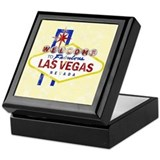 Las Vegas Sign Distressed Keepsake Box