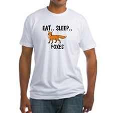 Eat ... Sleep ... FOXES Fitted T-Shirt