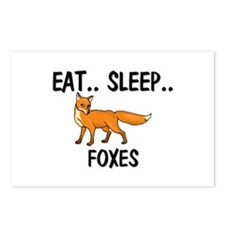 Eat ... Sleep ... FOXES Postcards (Package of 8)
