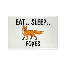 Eat ... Sleep ... FOXES Rectangle Magnet (10 pack)