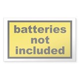 Batteries Not Included Rectangle Decal