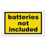 Batteries Not Included Rectangle Sticker 10 pk)