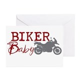 Biker Baby Greeting Cards (Pk of 20)