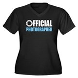 Official Photographer Women's Plus Size V-Neck Dar