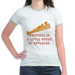 Protocol is Applause Jr. Ringer T-Shirt