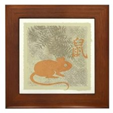 Year of the Rat Framed Tile