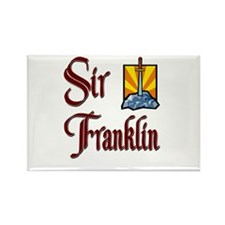 Sir Franklin Rectangle Magnet