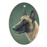 Belgian Malinois Oval Ornament