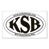 Kill Something Big Rectangle Decal