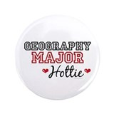 "Geography Major Hottie 3.5"" Button"