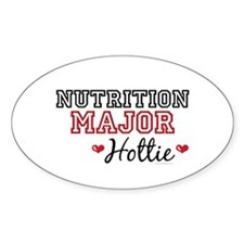 Nutrition Major Hottie Oval Sticker (10 pk)