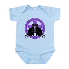Purple Pentagram Cats Infant Bodysuit