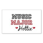 Music Major Hottie Rectangle Sticker