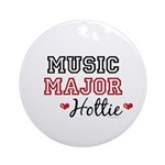 Music Major Hottie Ornament (Round)