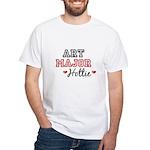 Art Major Hottie White T-Shirt