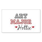 Art Major Hottie Rectangle Sticker