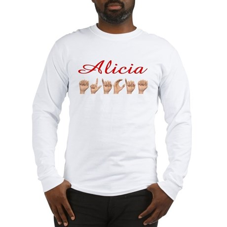 Alicia (Front) Long Sleeve T-Shirt