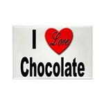 I Love Chocolate Rectangle Magnet (10 pack)
