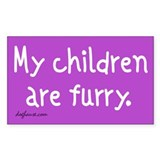 Furry Childen Rectangle Bumper Stickers