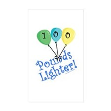 100 Pounds Lighter Rectangle Sticker 10 pk)