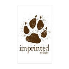 Werewolf Imprinted Twilight Rectangle Sticker 50