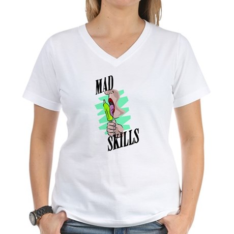 Sexy Mad Skills Women's V-Neck T-Shirt