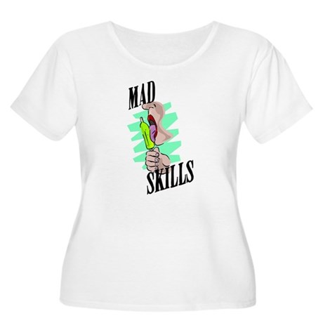 Mad Skills Women's Plus Size Scoop Neck T-Shirt
