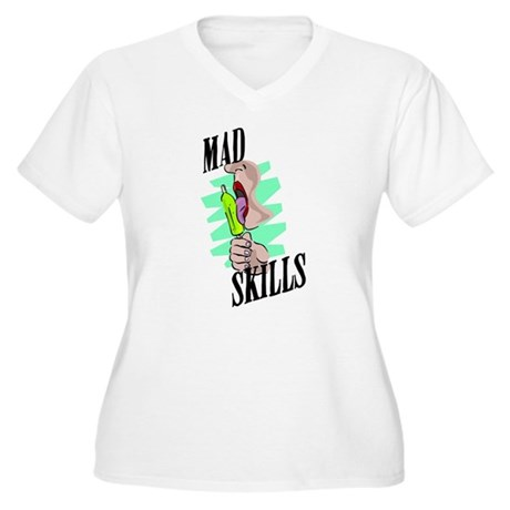 Sexy Mad Skills Women's Plus Size V-Neck T-Shirt