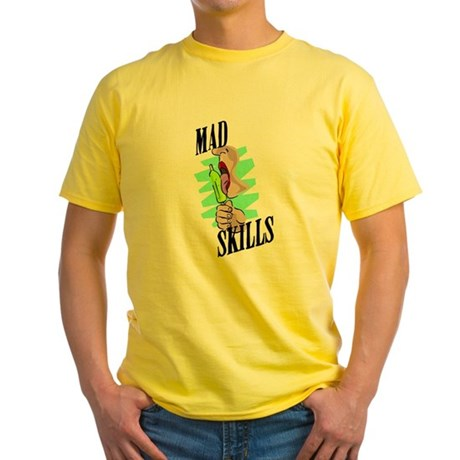 Sexy Mad Skills Yellow T-Shirt