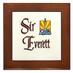 Sir Everett Framed Tile
