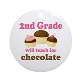 Funny 2nd Grade Ornament (Round)