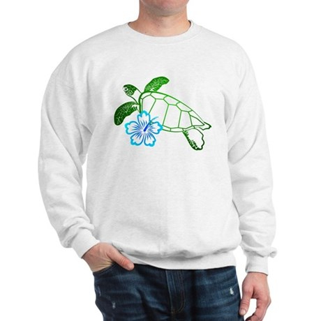 Sea Turtle Hibiscus Blue Sweatshirt