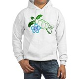 Sea Turtle Hibiscus Blue Jumper Hoody