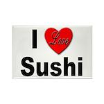 I Love Sushi Rectangle Magnet (10 pack)