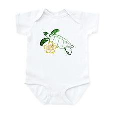 Sea Turtle Hibiscus Yellow Infant Bodysuit