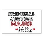 Criminal Justice Major Hottie Rectangle Sticker 1