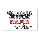 Criminal Justice Major Hottie Rectangle Sticker
